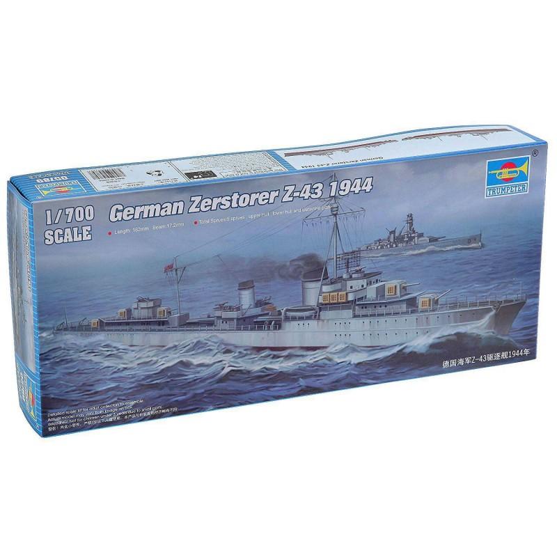 545789 Trumpeter. 1/700 German Zerstorer Z-43 1944
