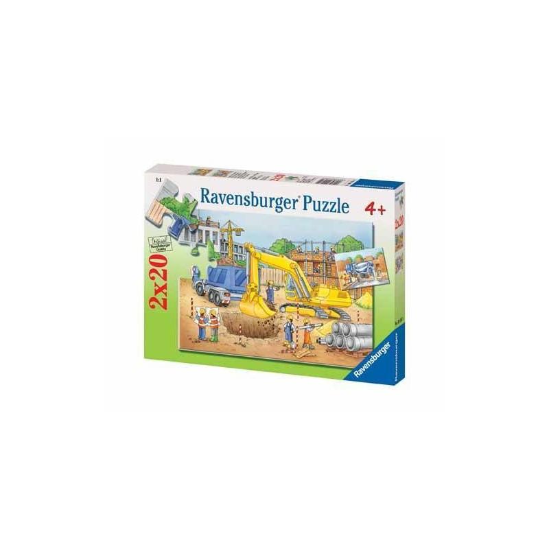 91614. Puzzle Ravensburger 2x20 piezas, Gran Construcción