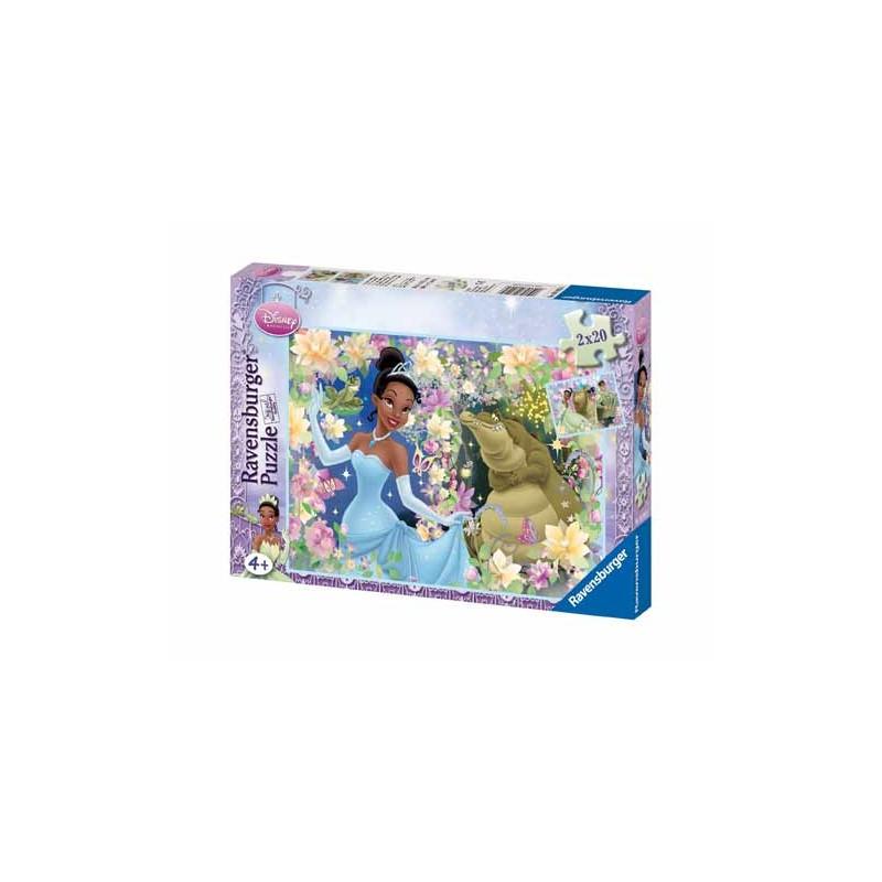 89956. Puzzle Ravensburger 2x20 piezas, La Princesa y el sapo