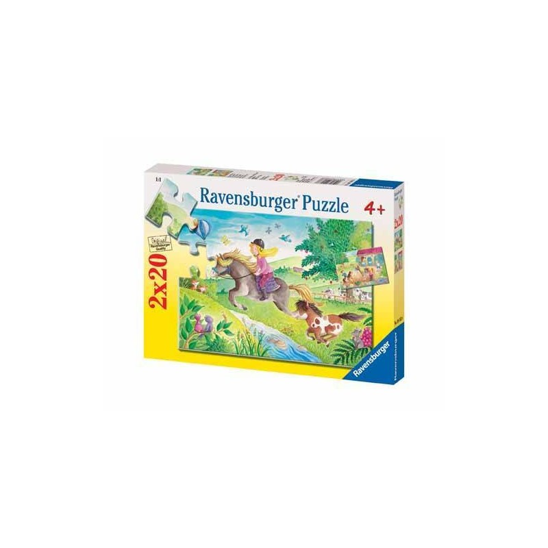 91638. Puzzle Ravensburger 2x20 piezas, Pequeño Pony