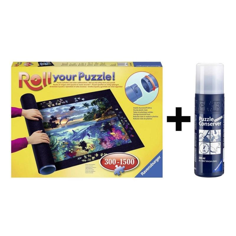 17956/17954 Ravensburger. Puzzle Roll + Pegamento 300-1500 Pzs