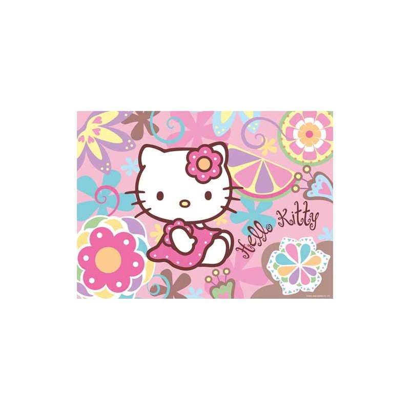 140107. Puzzle Ravensburger 300 piezas, Kitty Flower Power