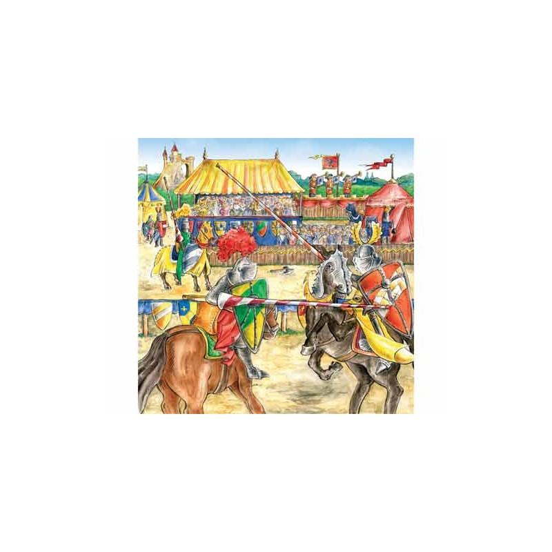 92925. Puzzle Ravensburger 3x49 piezas, El Caballero