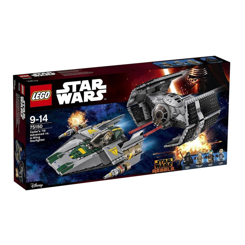 75150 Lego. TIE Advanced de Vader vs. A-Wing Starfighter 702 Pzs