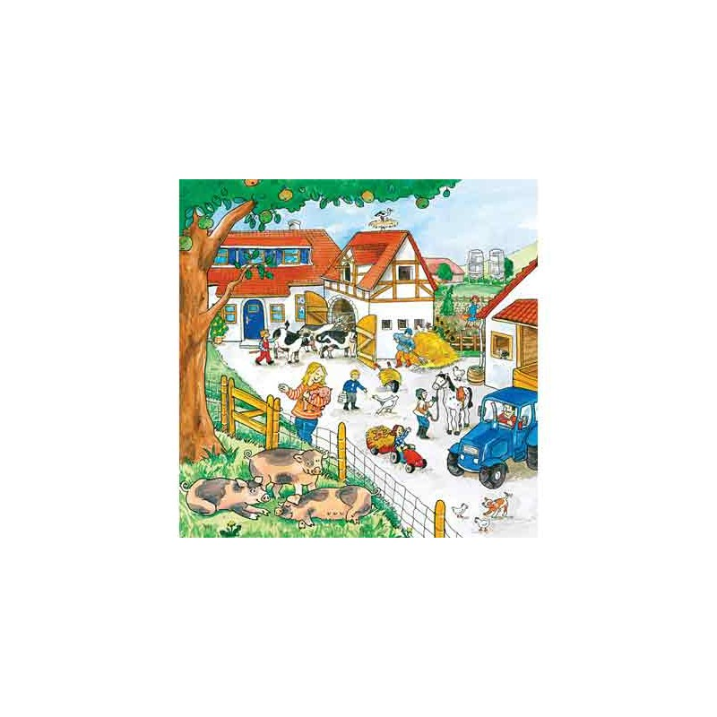 92611. Puzzle Ravensburger 3x49 piezas, Granja viva
