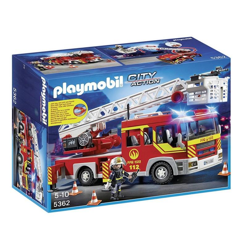 5362 Playmobil. Camión de Bomberos y Escalera con Luces y Sonido
