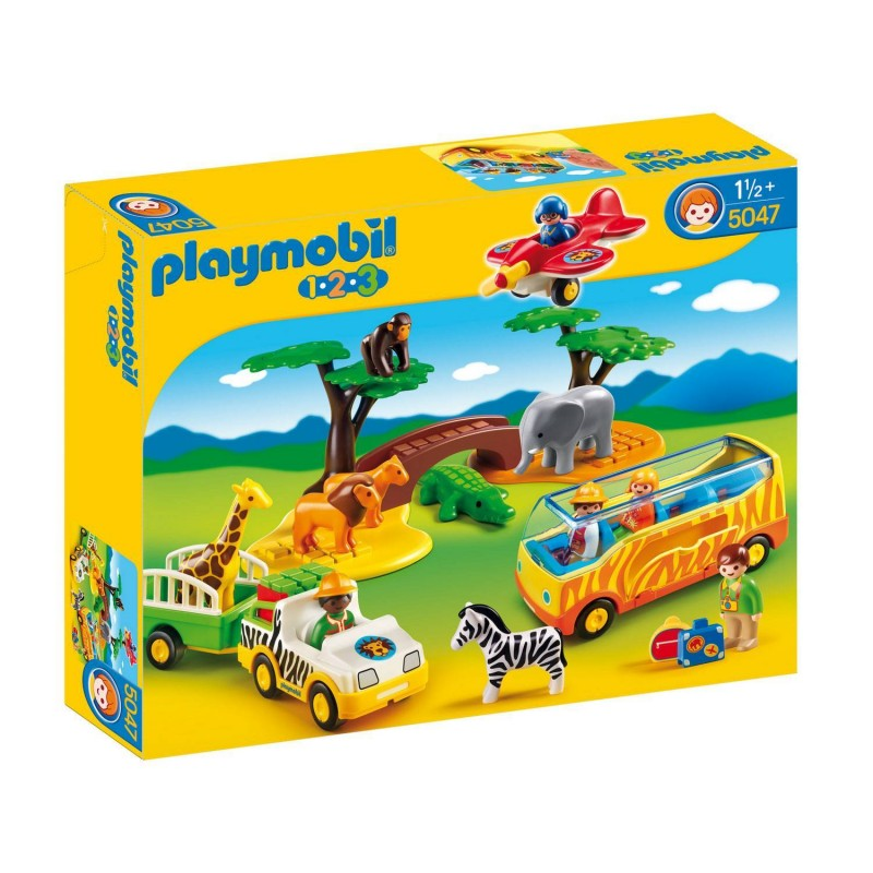 5047 Playmobil. 1.2.3 Gran Safari Africano