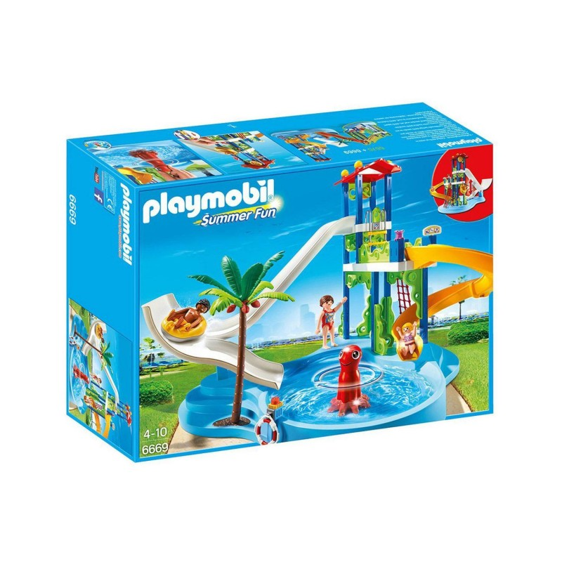 6669 Playmobil. Parque Acuático con Toboganes