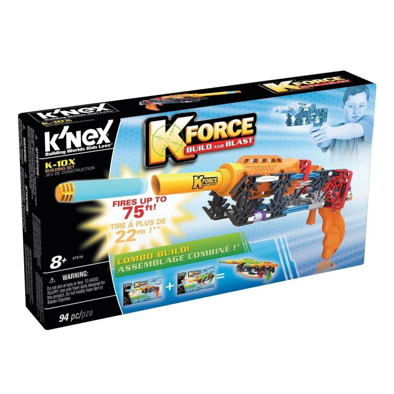 41152 Knex. Pistola K-10X 94 Piezas