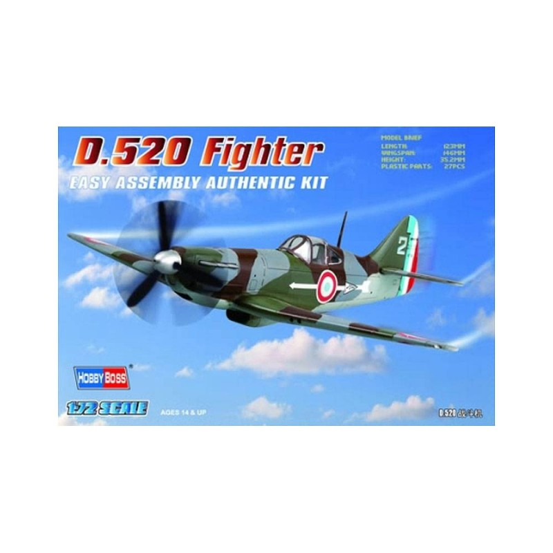 80244 Hobby Boss. 1/72 D.520 Fighter