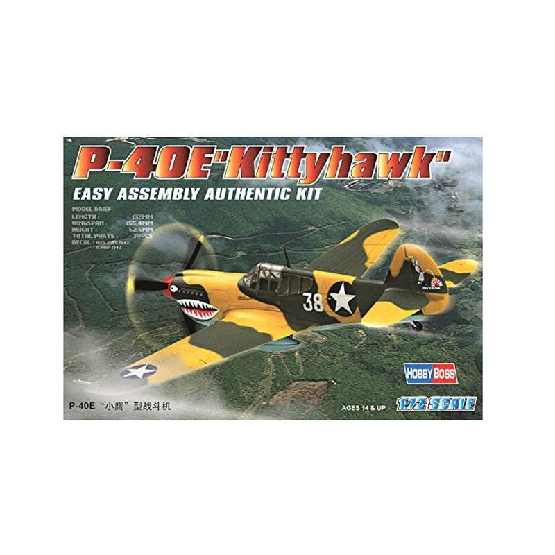 "80250 Hobby Boss. 1/72 P-40E ""Kitty hawk"""