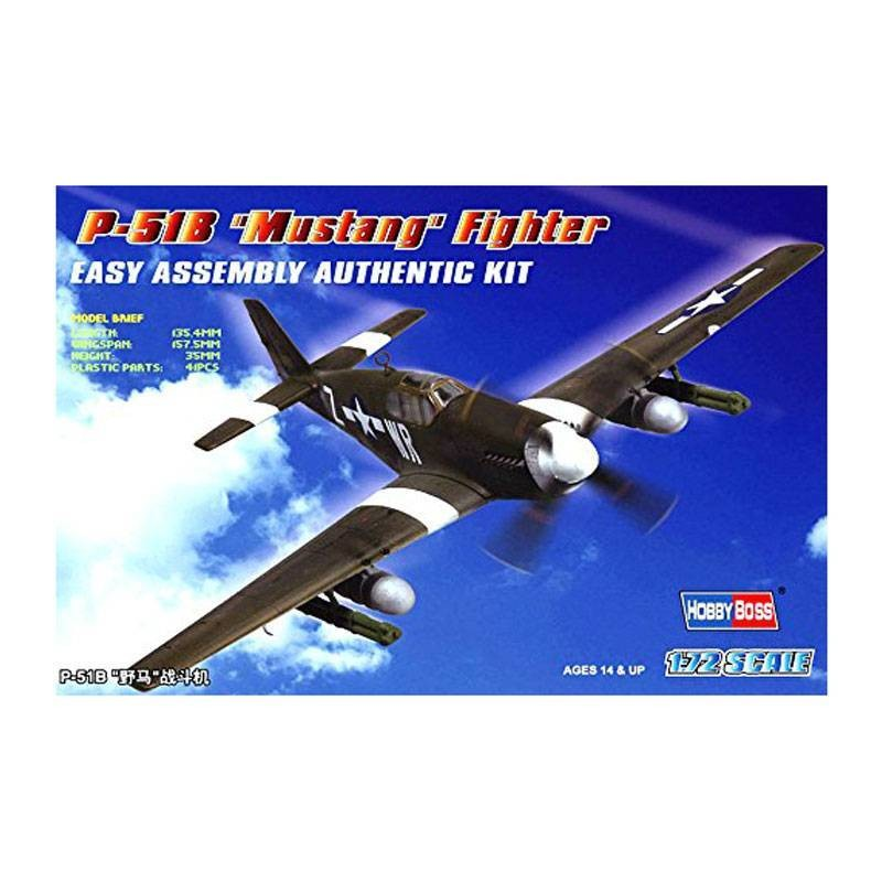 "80242 Hobby Boss. 1/72 P-51B ""Mustang"" Fighter"