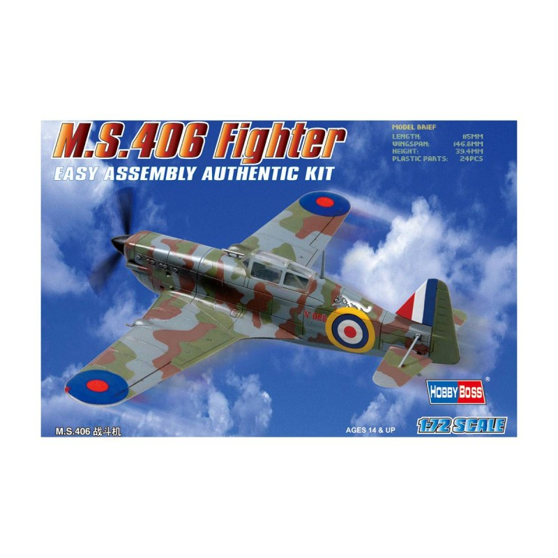 80235 Hobby Boss. 1/72 French M.S.406 Fighter