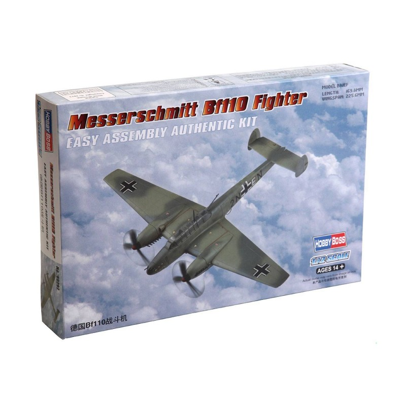 80292 Hobby Boss. 1/72 Messerschmitt Bf110 Fighter