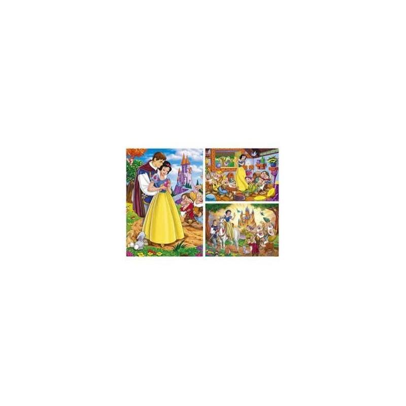 22505. Puzzle Clementoni 9+12+18 piezas, Blancanieves