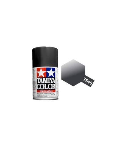 85040 Tamiya. Spray TS-40 Pintura esmalte Negro Metalizado