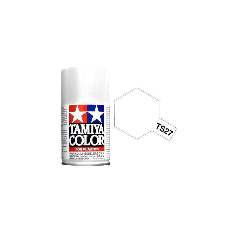 85027 Tamiya. Spray TS-27 Pintura esmalte Blanco Mate
