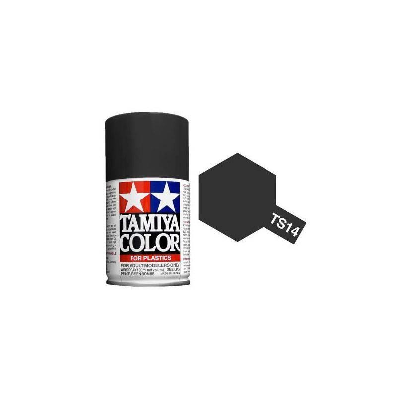 85014 Tamiya. Spray TS-14 Pintura esmalte Negro Brillo