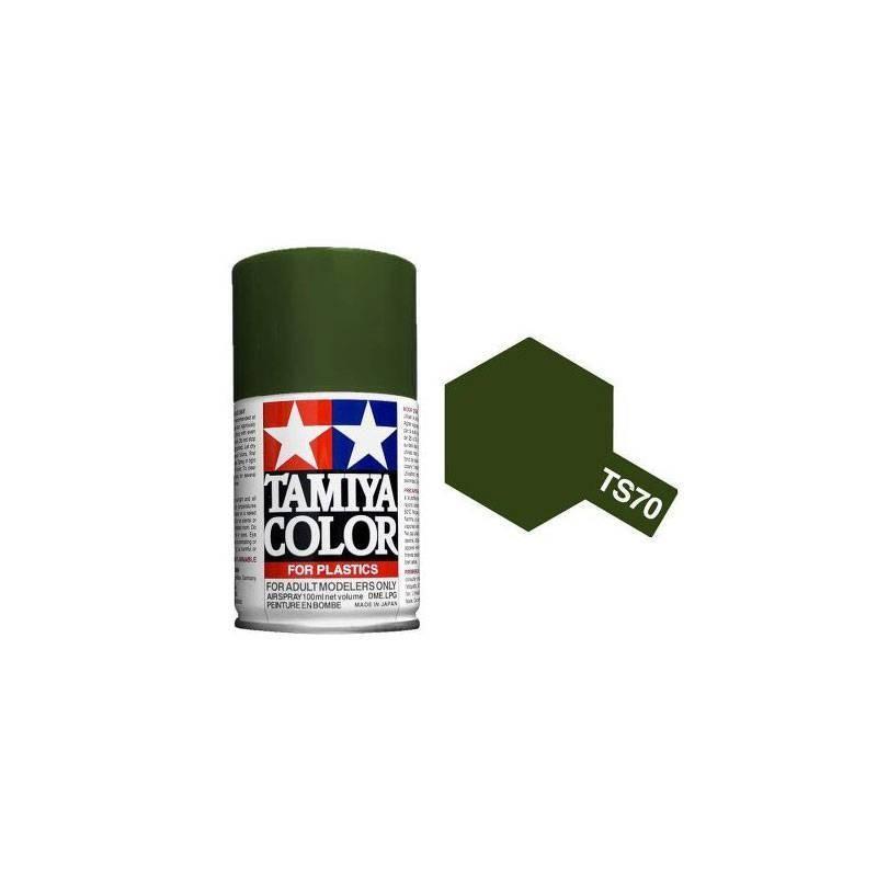 85070 Tamiya. Spray TS-70 Pintura esmalte Oliva Apagado