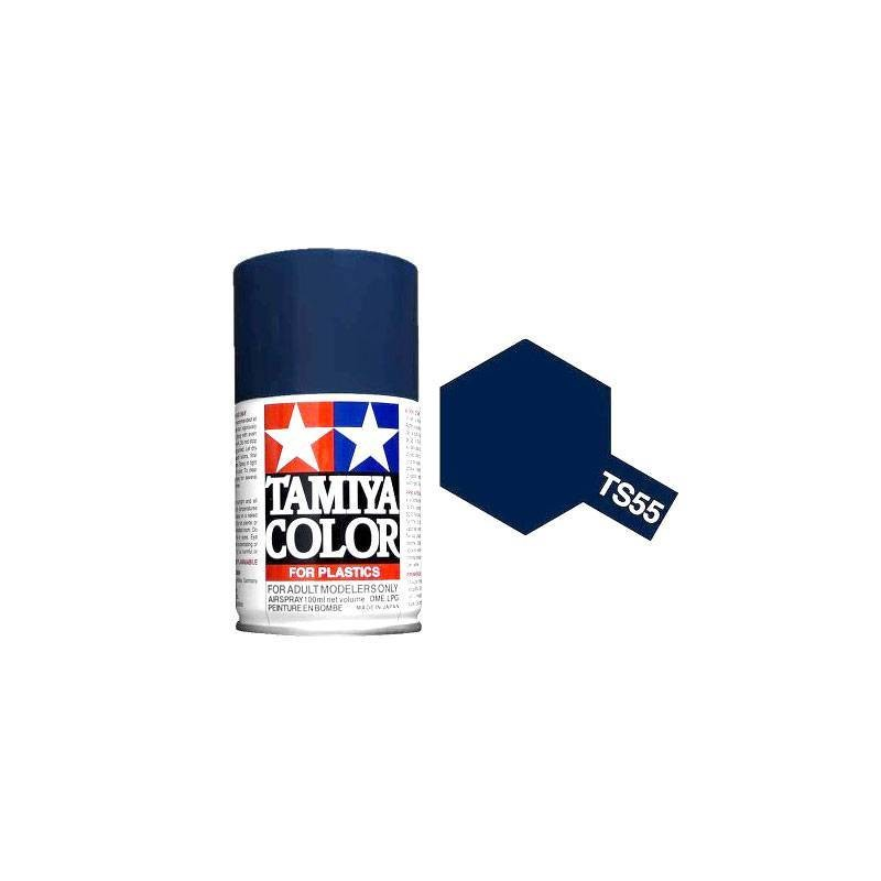 85055 Tamiya. Spray TS-55 Pintura esmalte Azul Oscuro