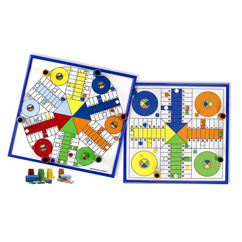 CPES02 Aquamarine. Juego de mesa del Parchís para 4-6 jugadores