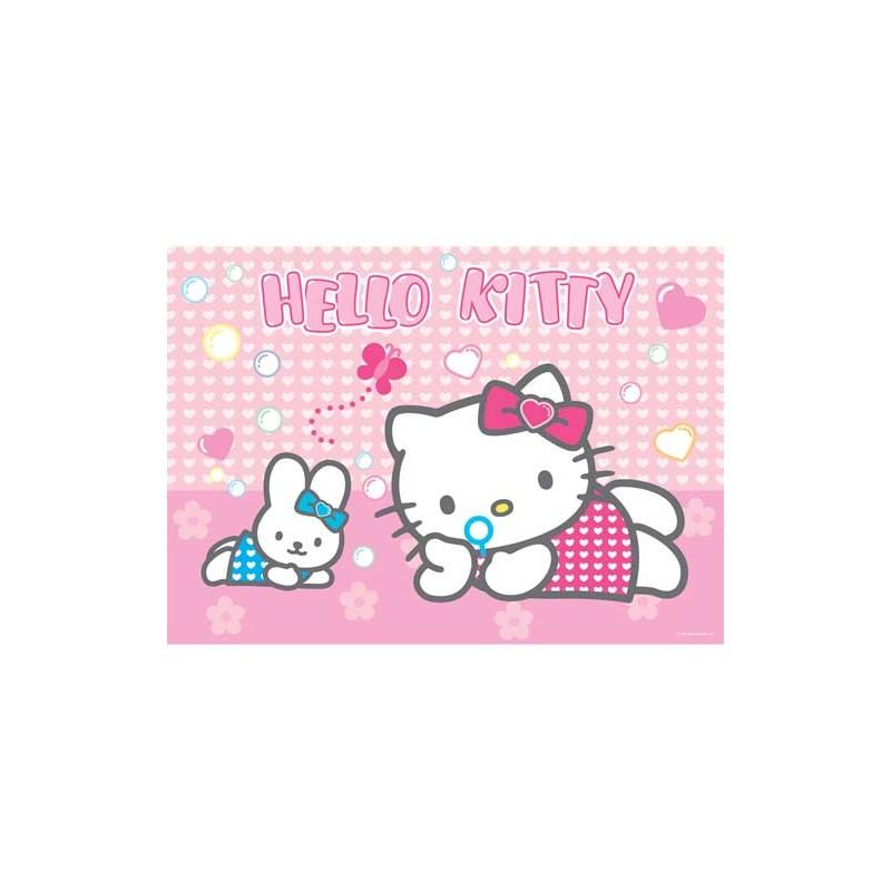 97647. Puzzle Ravensburger 125 piezas XXL, Kitty Pompas jabon