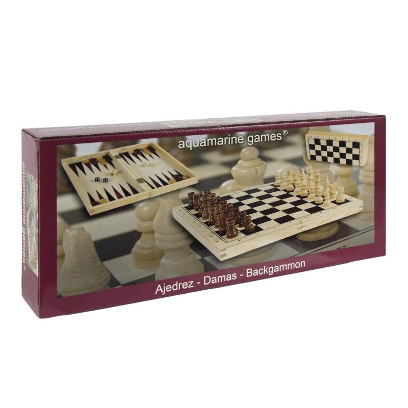 CP1070 Aquamarine. Tablero de Ajedrez + Damas + Backgammon