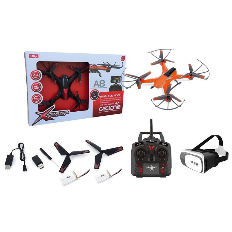 1675555 Afizon. Drone A8 RC Wifi FPV + Gafas VR + Batería extra
