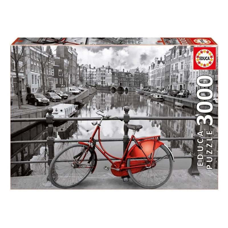 16018 Educa. Puzzle 3000 Piezas Bicicleta Ámsterdam