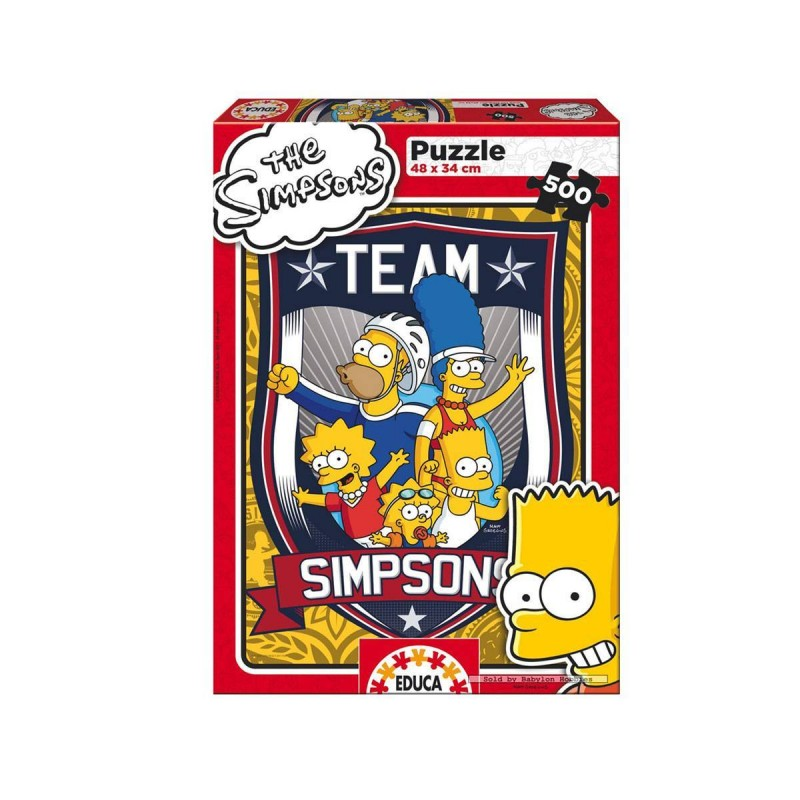 15194 Educa. Puzzle 500 Piezas Team Simpsons