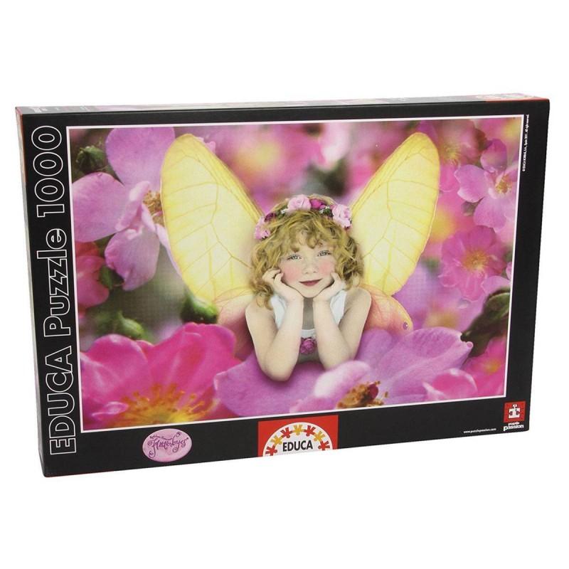 14850 Educa. Puzzle 1000 Piezas Rosa Silvestre - Niña Mariposa