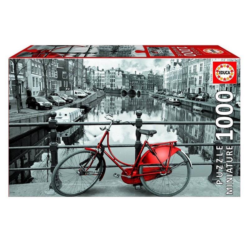 17116 Educa. Puzzle 1000 Piezas Bicicleta en canal de Ámsterdam