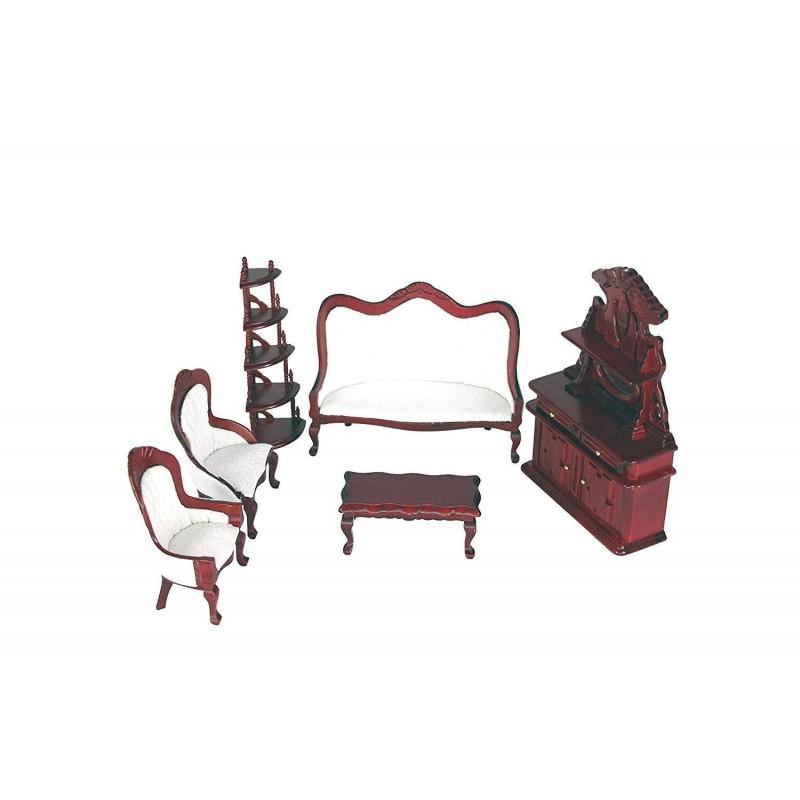 SP801. Ambiente Salón sofas 6 piezas para casa de muñecas