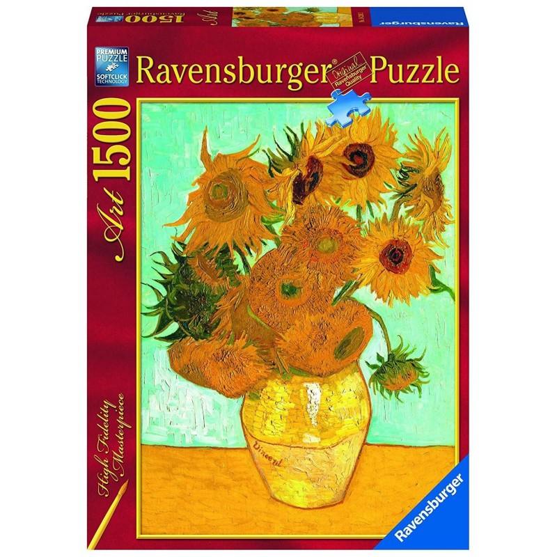 162062. Puzzle Ravensburger 1500 piezas Los girasoles, Van Gogh