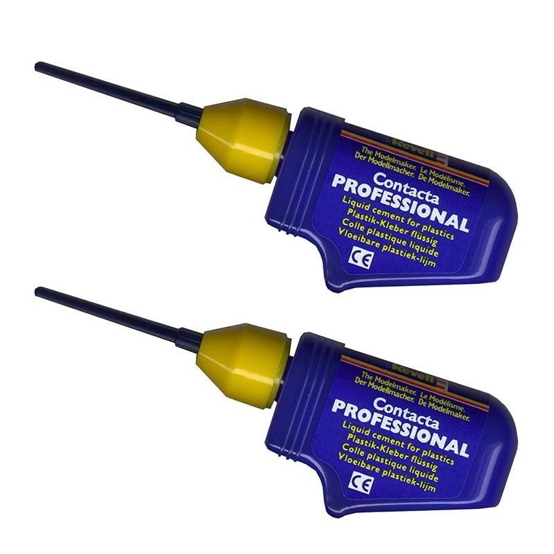 39604 Revell. Pack 2 botes de pegamento para maquetas con canula de aguja metálica de precisión 34326x2ud