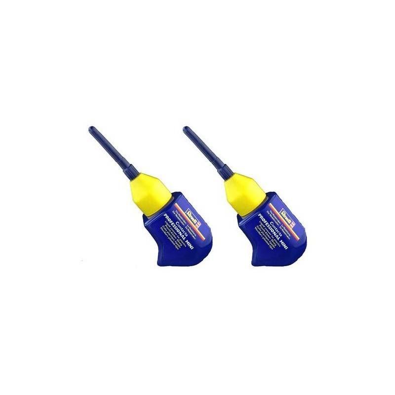 39608 Revell. Pack 2 botes de pegamento para maquetas con cánula de aguja metálica de precisión 3156x2ud
