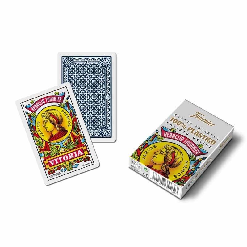 35182 Fournier. Baraja española de 50 cartas de plástico lavable calidad casino