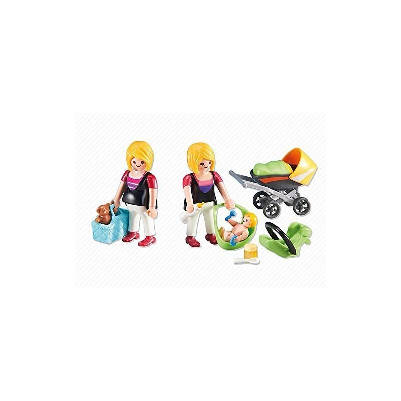 6447 Playmobil. Embarazada y Mamá con Bebé