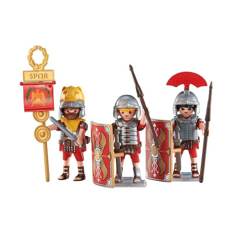 6490 Playmobil. Pack 3 soldados romanos con estandarte