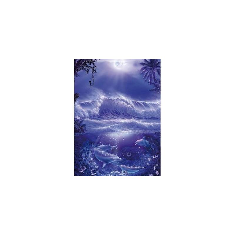 152797. Puzzle Ravensburger 1000 piezas Delfines bajo la luna
