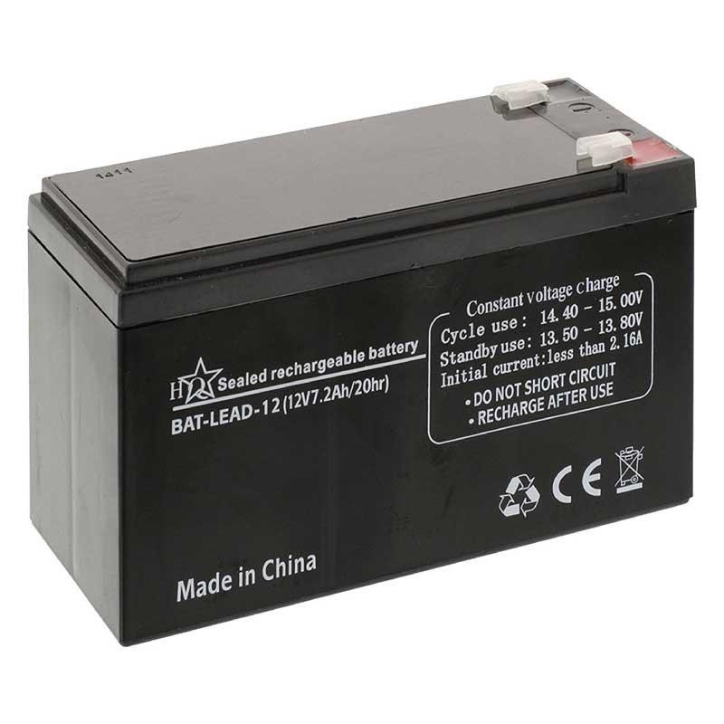 Batería Recargable de Plomo-Ácido 12 voltios 7.2 Amperios