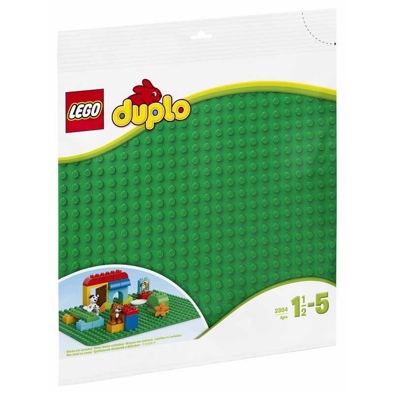 2304 Lego. Plancha Verde Base para construcciones Lego Duplo