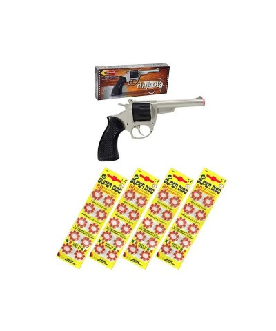 Revólver metálico Gibie Dakota con 320 fulminantes en aros de 8 tiros 39077/62517x4ud
