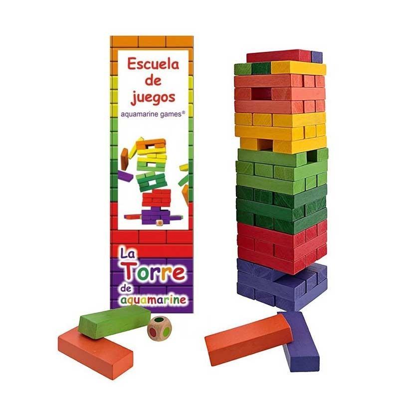 CPES03 Aquamarine. Torre Jenga XXL de colores