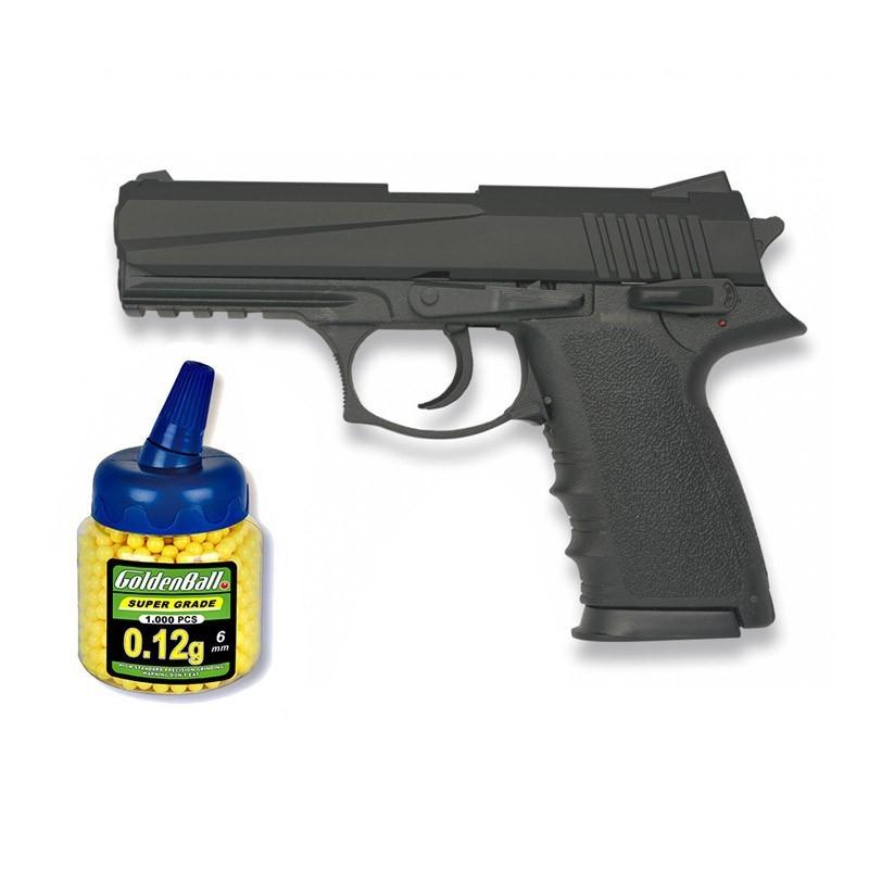 35909 Martínez. Pistola airsoft HA126 negra Calibre 6mm 62781/21993