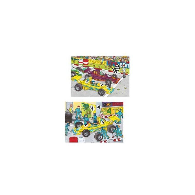 89826. Puzzle Ravensburger 2x20 piezas, En la Carrera
