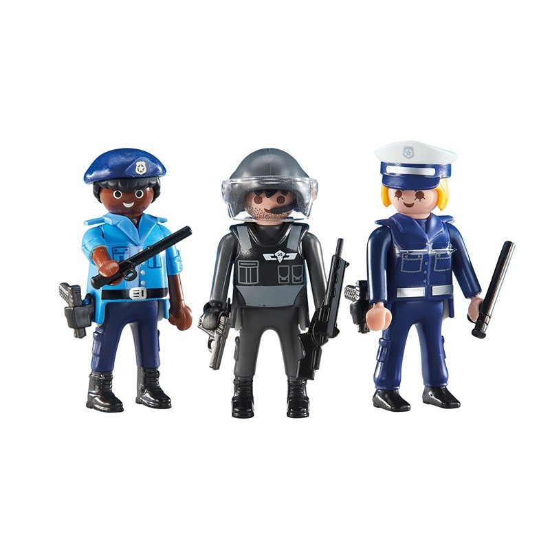 6501 Playmobil. Pack 3 Policías de Playmobil