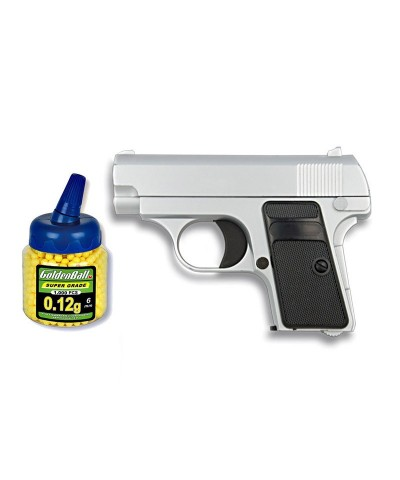 35501 Martínez. Pack Pistola Airsoft Mini G1 Plata 50979/21993
