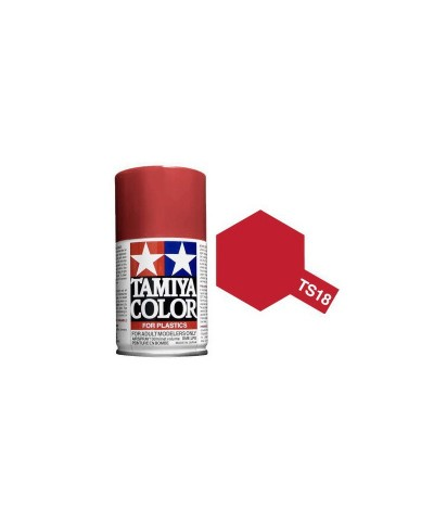 85018 Tamiya. Spray TS-18 Rojo Metalizado Pintura Esmalte