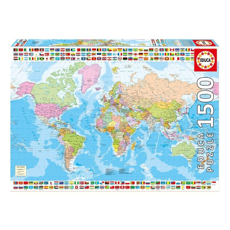 17117 Educa. Puzzle 1500 Piezas Mapamundi Político